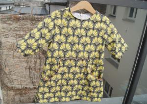The louisa Dress yellow flowers ganz