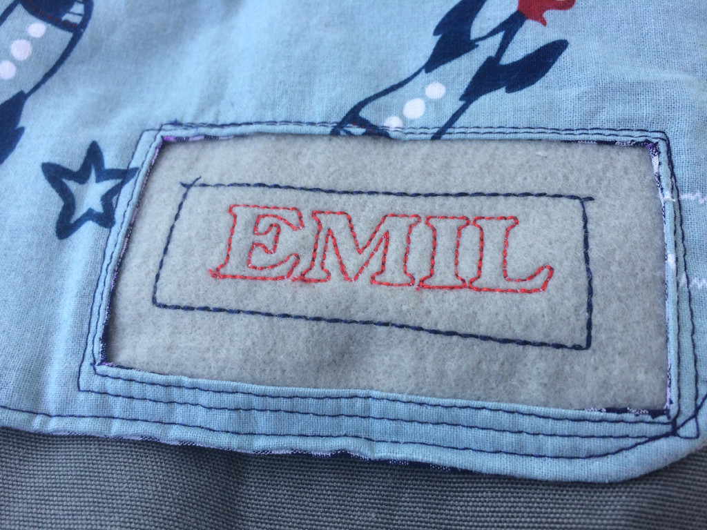 Tasche Emil Namensschild