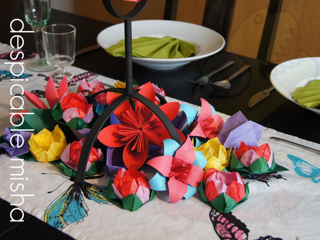 origami center piece