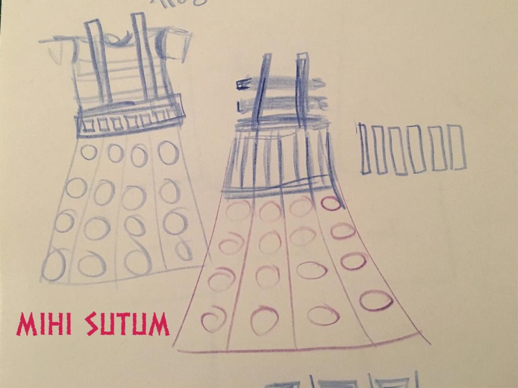 Skizze Dalek Kleid